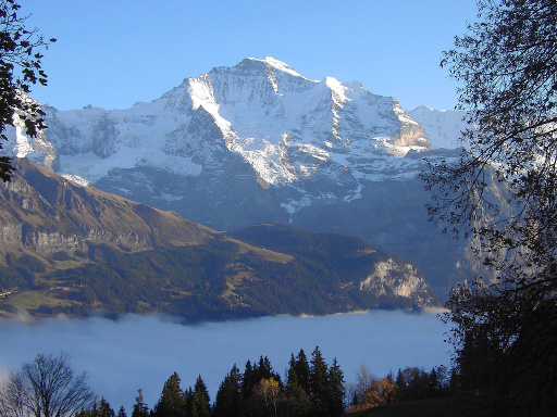 View of the Jungfrau Mountain from Sulwald