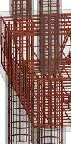 Rebar intersecting column