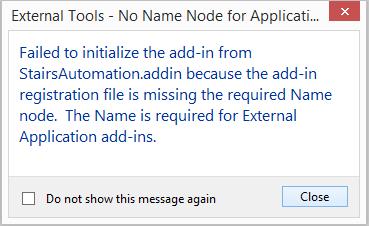 External application requires a Name node