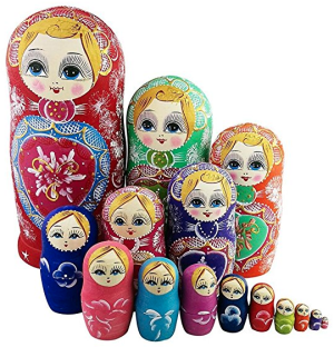 Nested matryoshka dolls