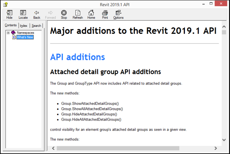 Revit 2019.1 API help on What's New