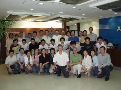 Zhong October 2005, some of Manchester team visited Shanghai ACAD BSD team