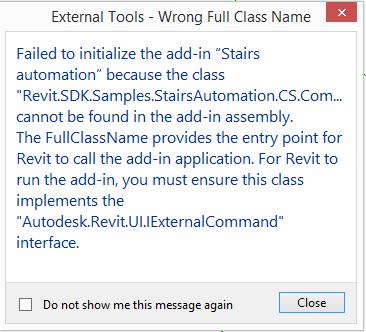 External command not found