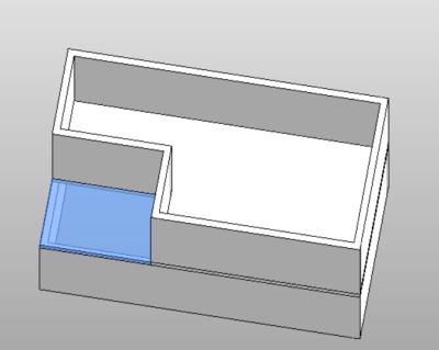 Find exterior floor area above room