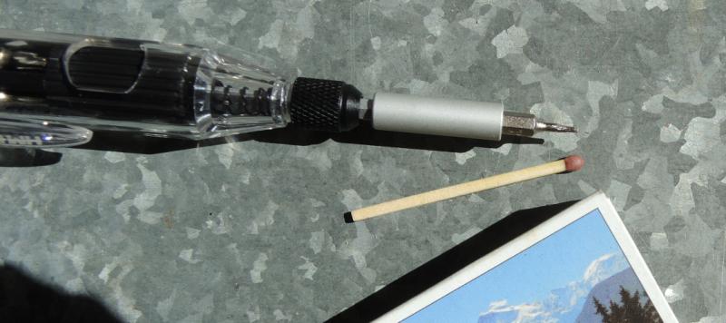 Miniscule screwdriver