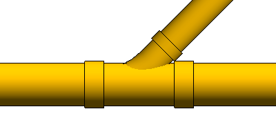 Tee branch fitting
