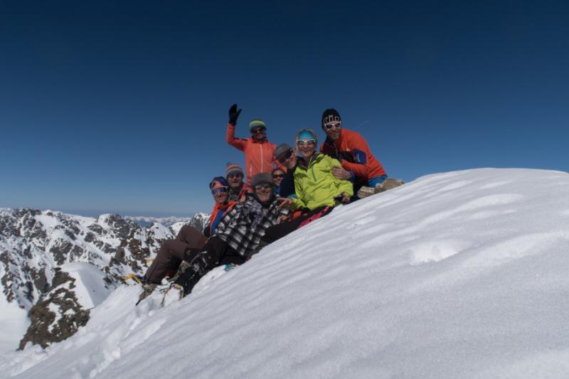 Group photo on Sattelkopf