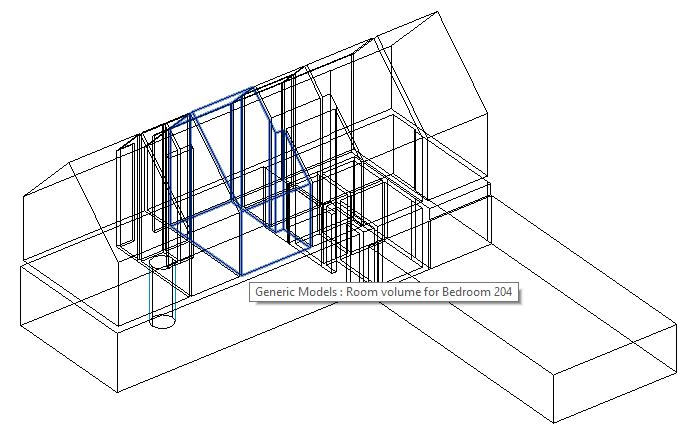 DirectShape elements representing room volumes