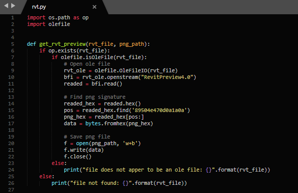 Python code get_rvt_preview