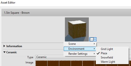 Environment assets