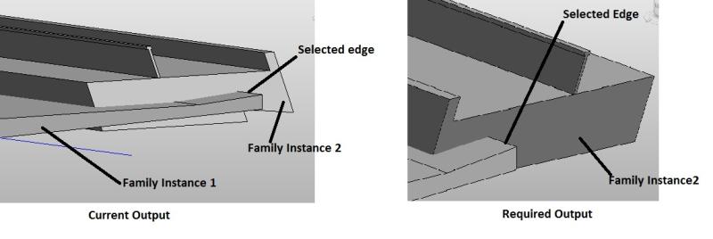 Placing an instance along an edge