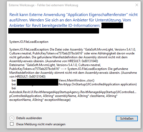 File load exception