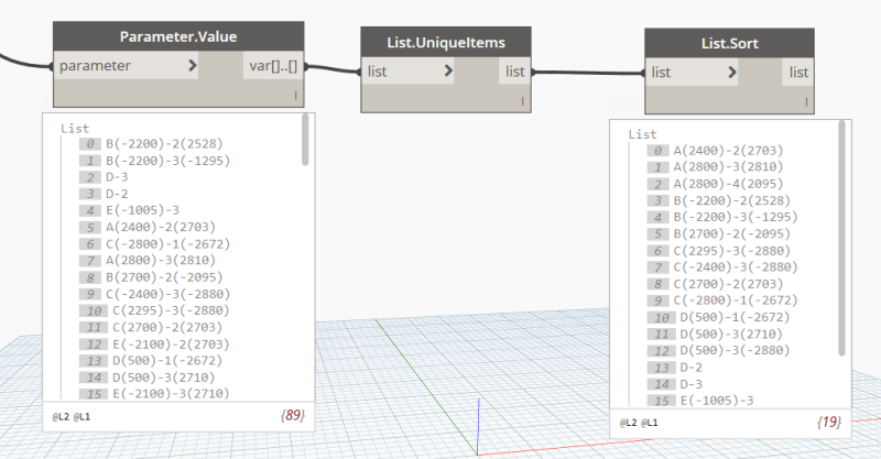 Graphical column schedule sort order in Dynamo