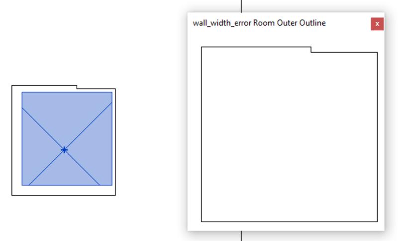 Wall width sample loop