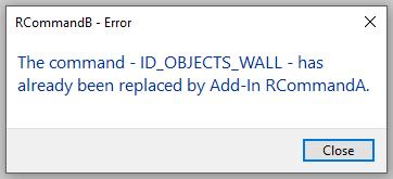 AddInCommandBinding already replaced