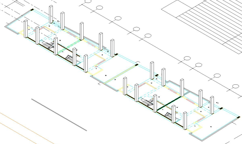 Place columns from imported 2D CAD