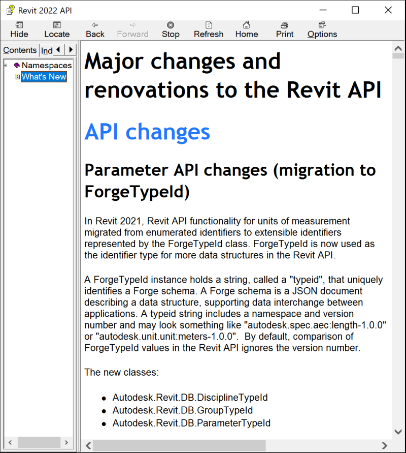 Revit 2022 API help on What's New