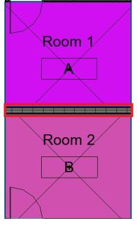 Wall adjacent rooms