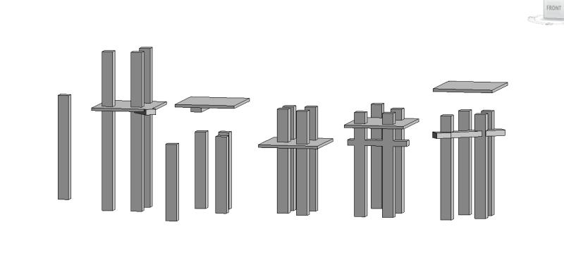 Beams intersecting columns